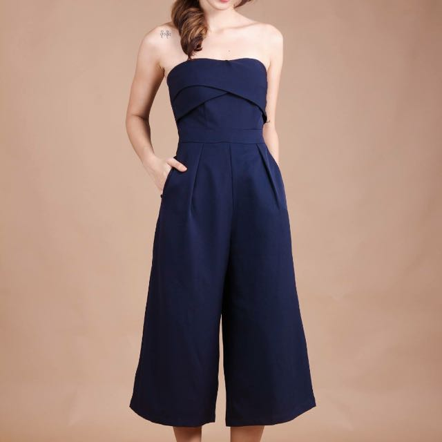 80644e3f3a57 BNWT TVD Windsor Jumpsuit in Navy