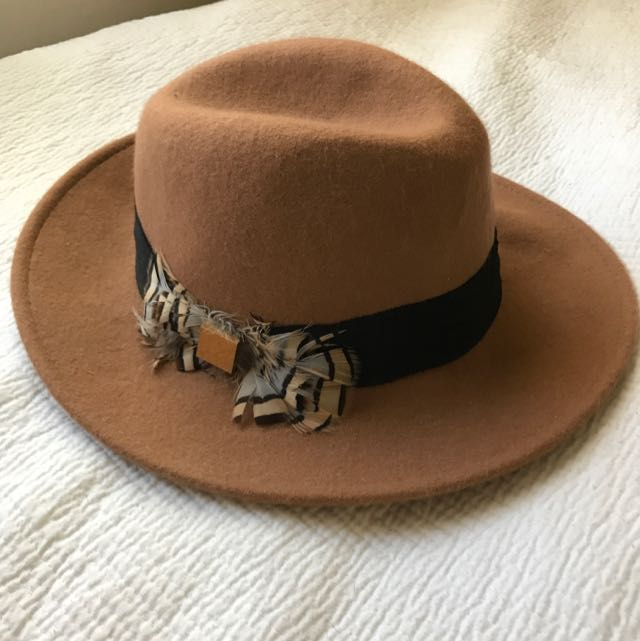 Brown River Island Fedora Hat