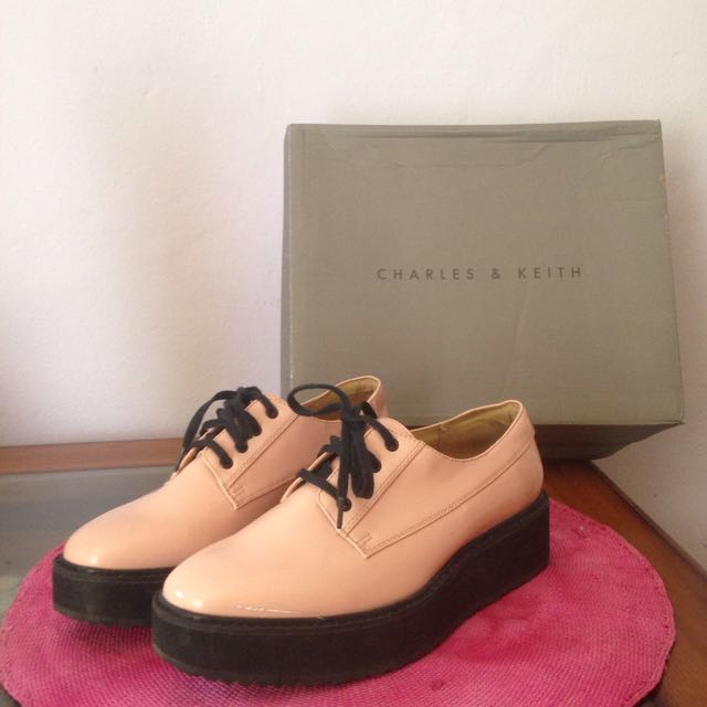 Charles And Keith Wedges Pink