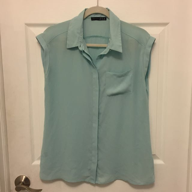 Chiffon Pastel Blue Shirt From Primark
