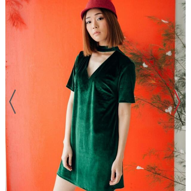 Choker Dress Green