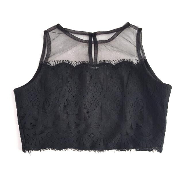 LOCAL BRAND Cloth Inc Black Crop Top