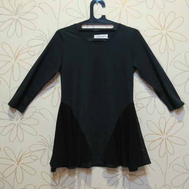 Cotton Ink Longsleeve Black Tshirt