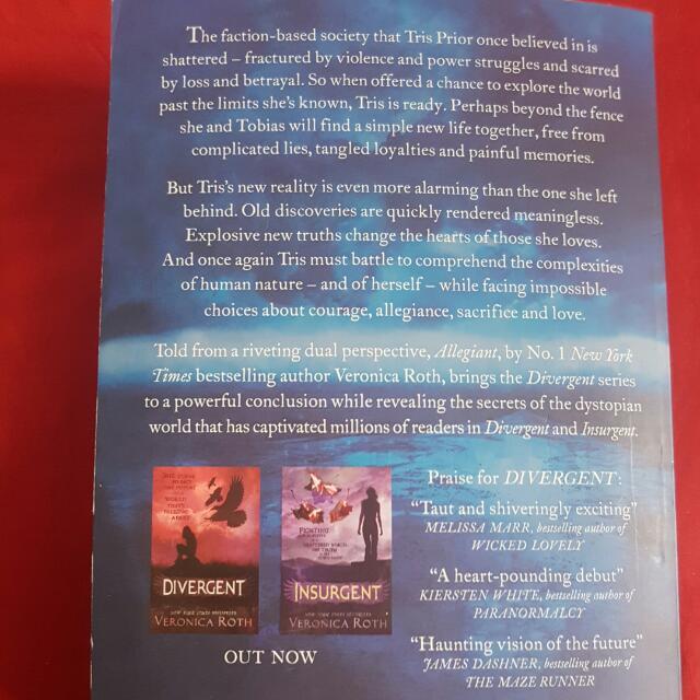 Divergent trilogy books 2&3