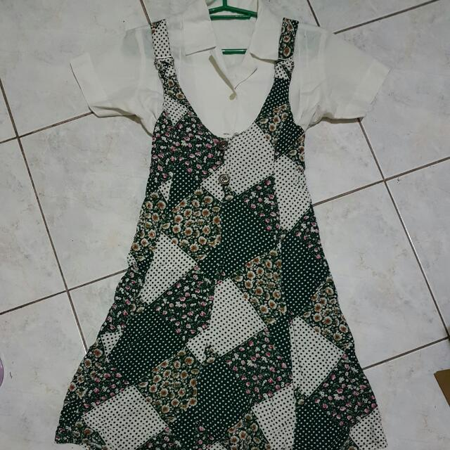 Dress Jumper with Blouse