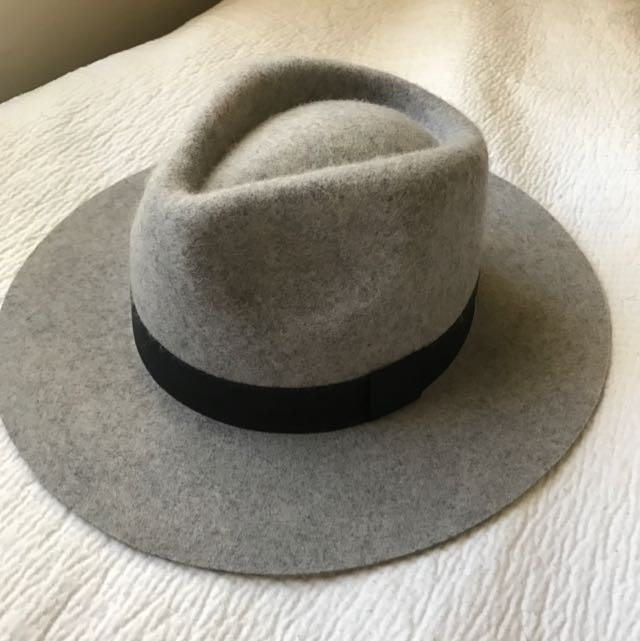 Grey Kookai Fedora Hat