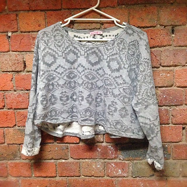 Grey Patterned Sweater