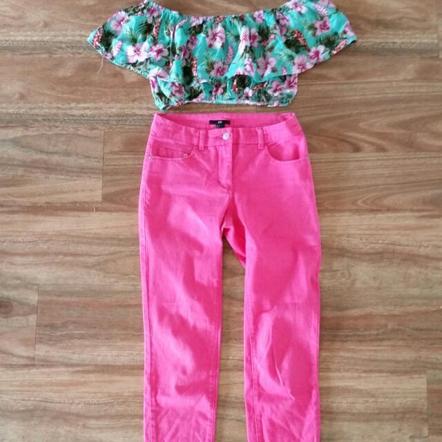 H & M Pink Chinos