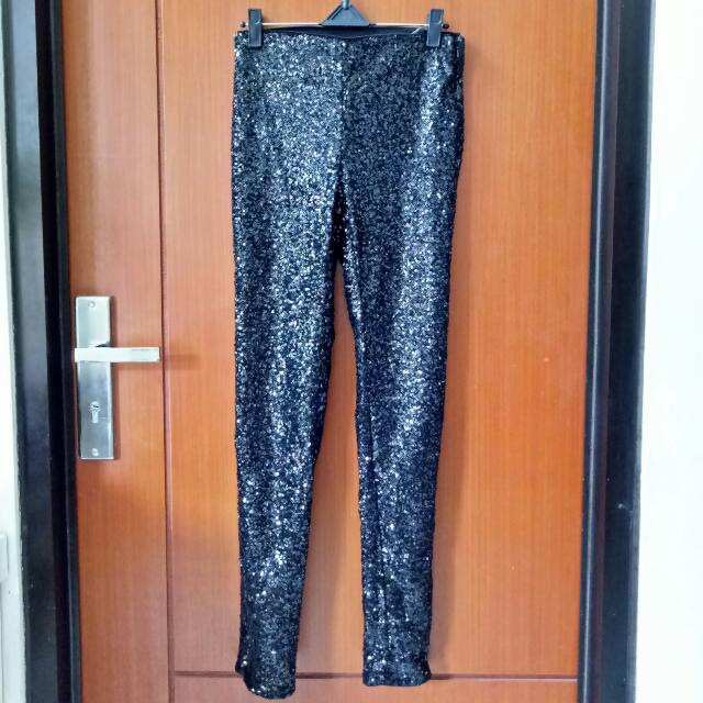 H&M Celana Payet Black