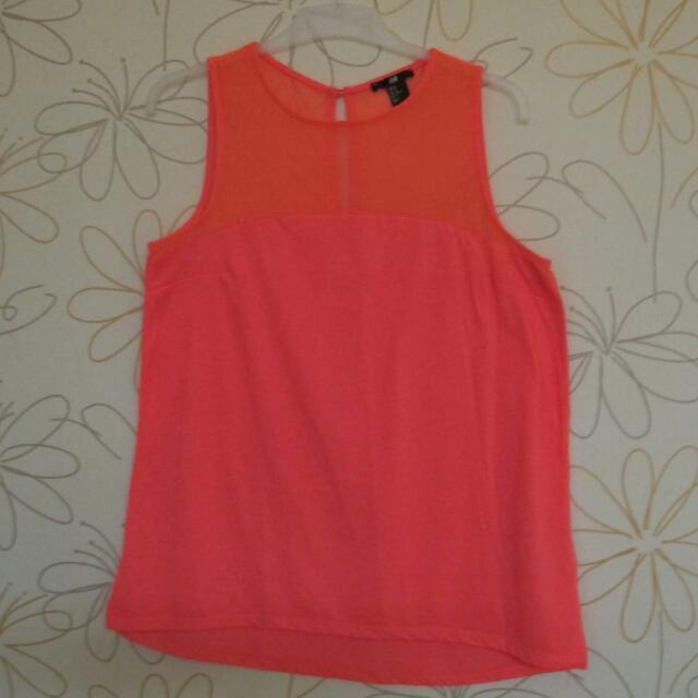 H&M Pink Neon Sleeveless Tshirt