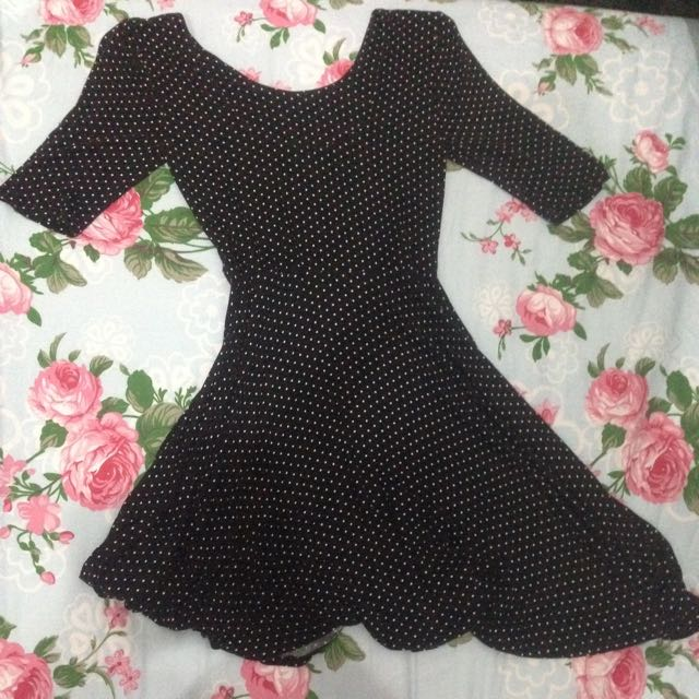 h&m polkadot dress