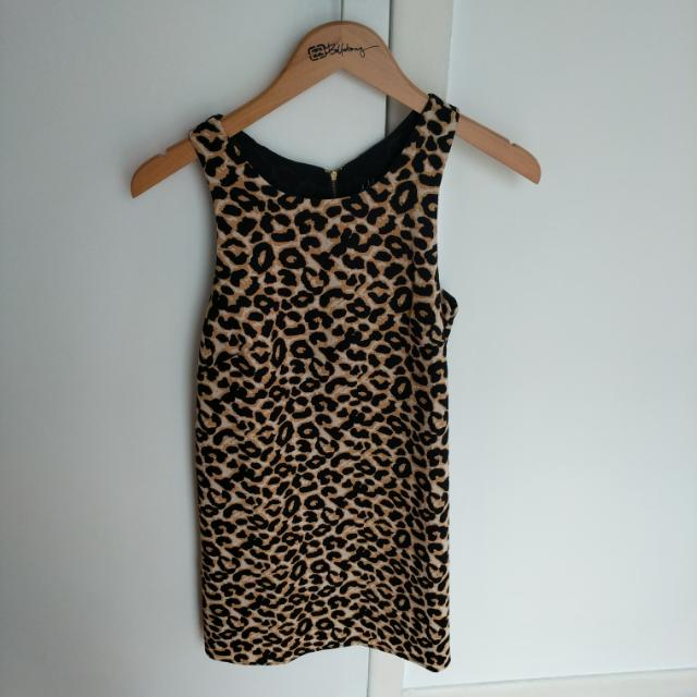 I Like Wolves Leopard Shift Dress Size S