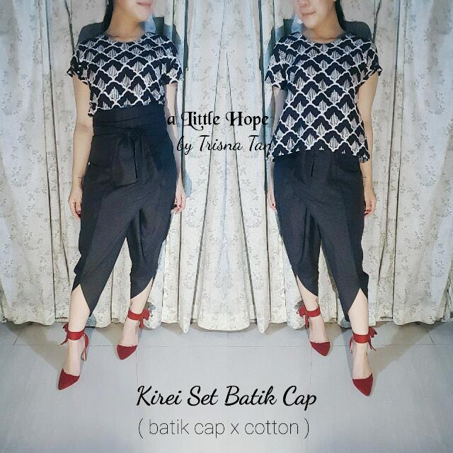 Kirei Set Batik Cap Garutan ( Top + Ubet Pants )