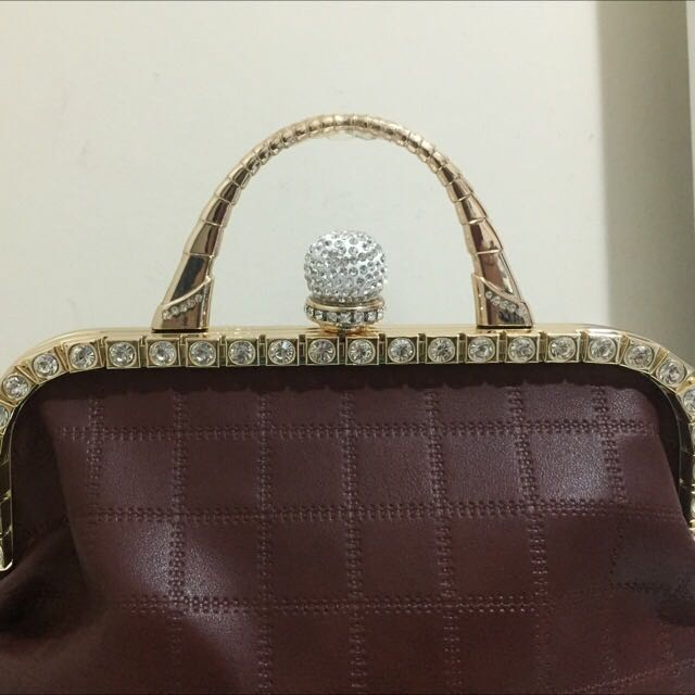 Leather Handbag With Studs