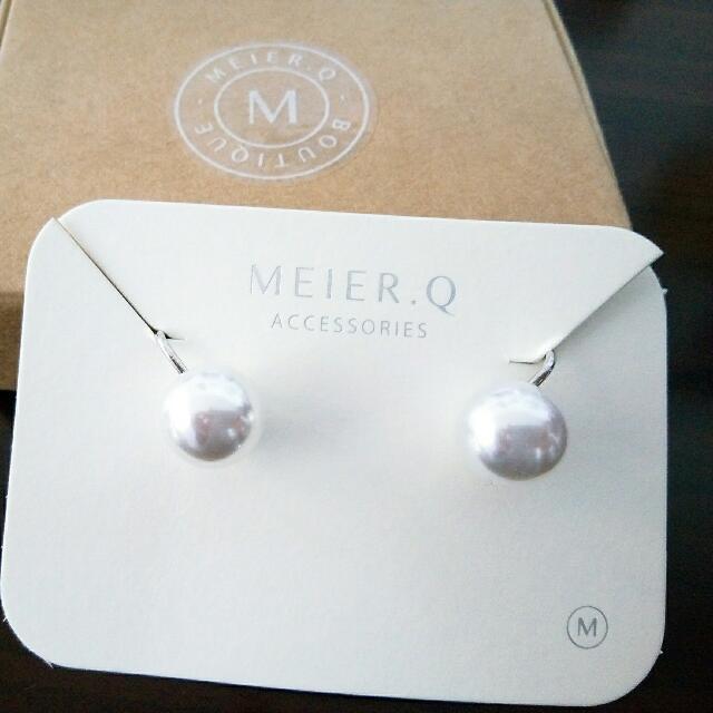 MEIER.Q 經典優雅珍珠夾式耳環