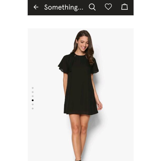 Mini Batwing Dress Black