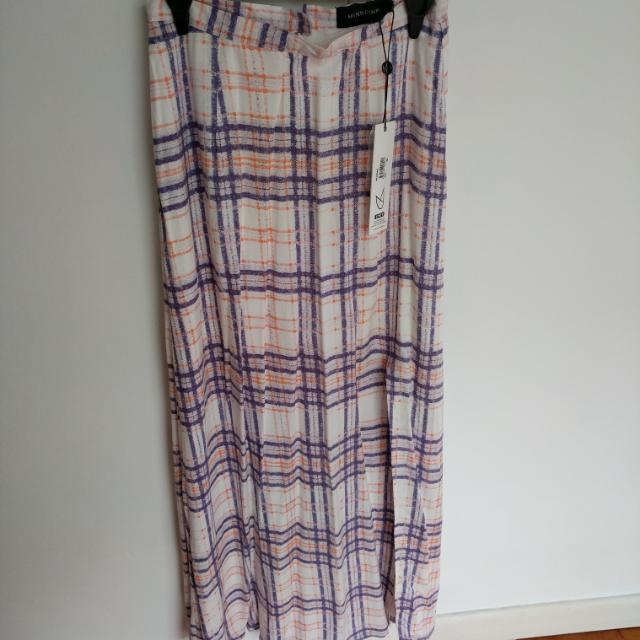 Mink Pink Maxi Skirt With Split Brand New Size XS