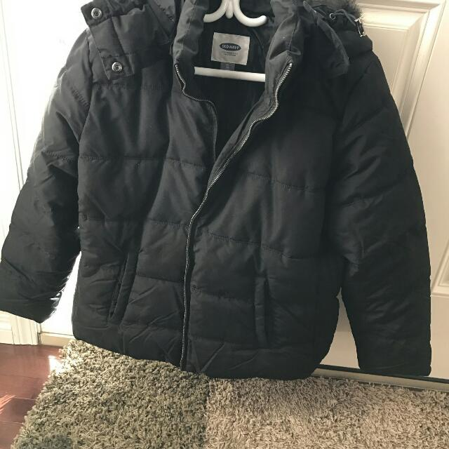 Old Navy Frost Free Fur Hood Winter Jacket
