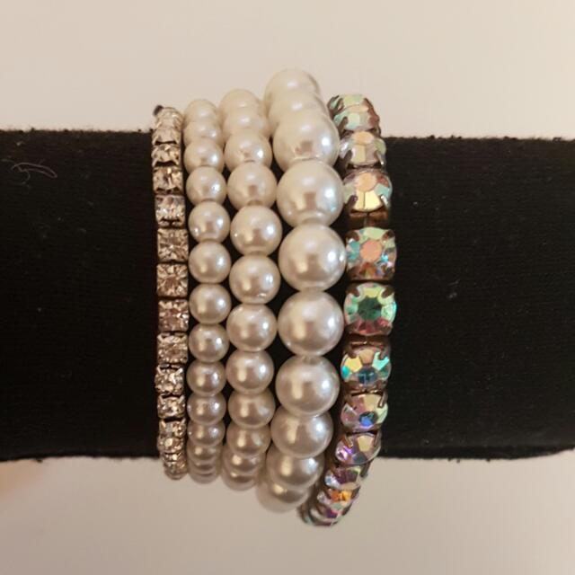 PKG: Faux White Pearl/Diamond