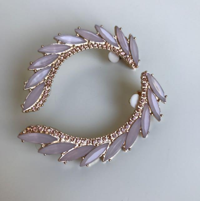 Rose Gold & Pink Ear Cuffs