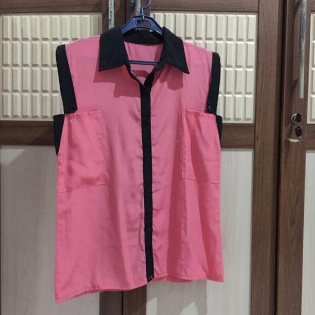 shocking pink top