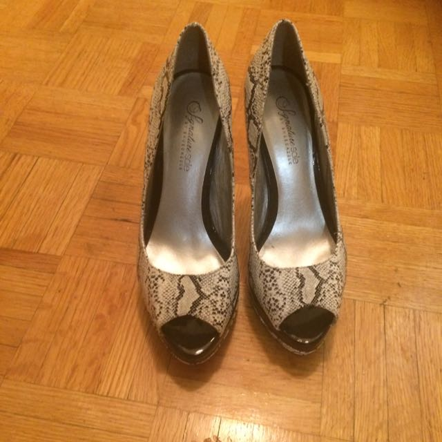 Snake Print Heels/ Pumps