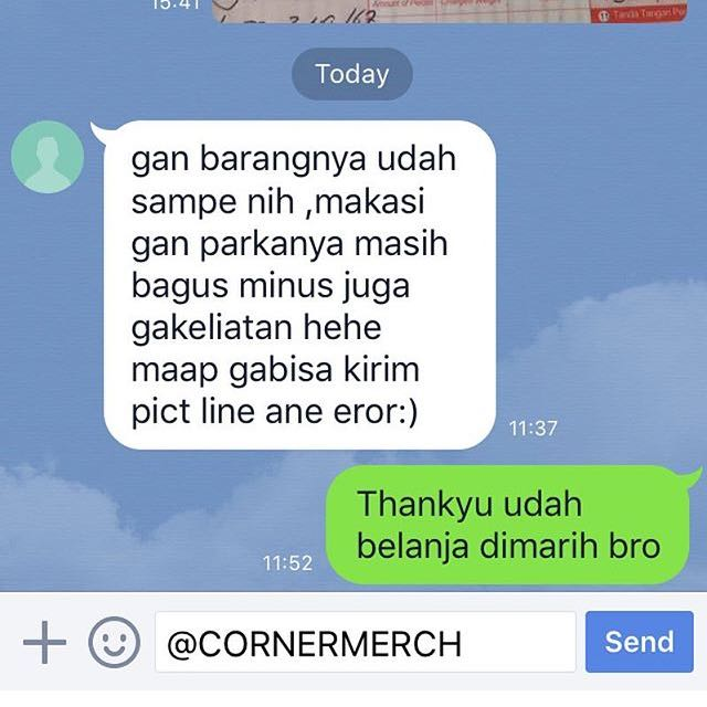 Testimonial Cornermerch! We Are Trusted Online Shop....