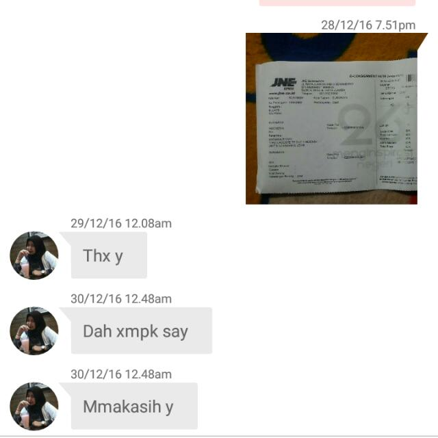 Testi/sold By Jne