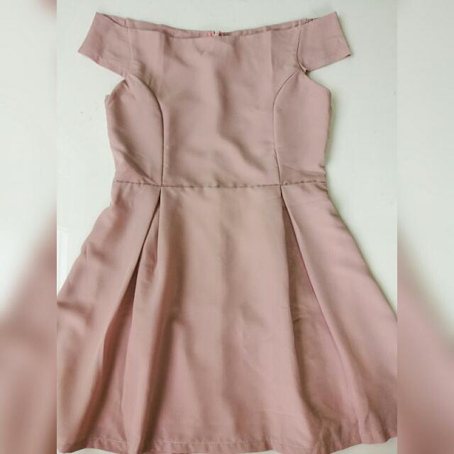 TWENTY 3 Off-shoulder Casual Dress