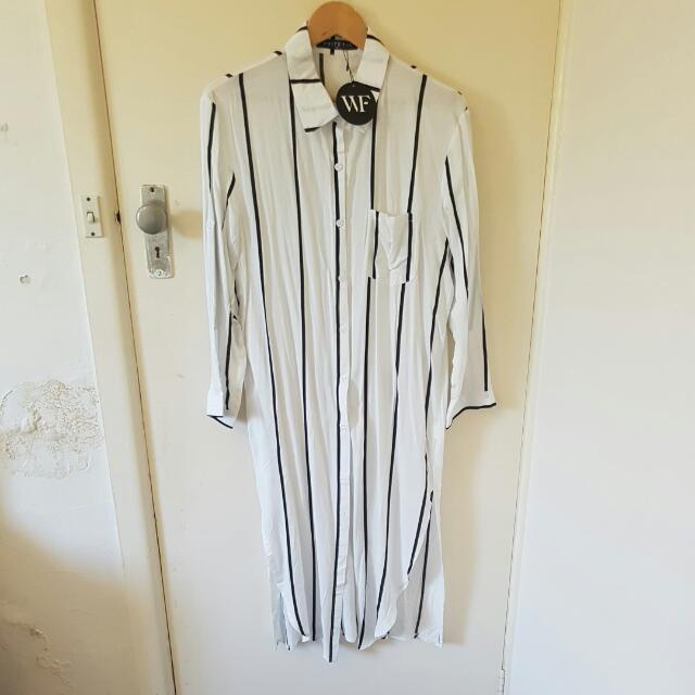 White Fox Shirt Dress Size 8 / Small NEW