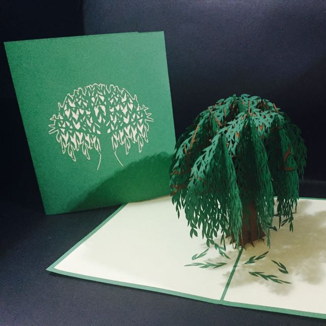 Willow tree 3d handmade pop up greeting card pack of 4 for 3995 willow tree 3d handmade pop up greeting card pack of 4 for 3995 size 15x18cm designed handmade by starnam love get well thank you birthday m4hsunfo