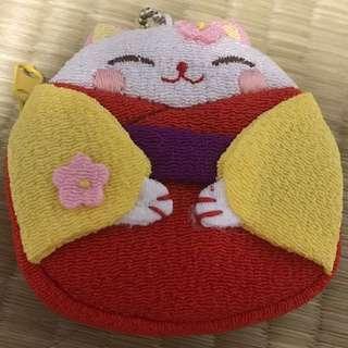 Cute Japanese Kitty Pouch