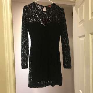 Black Lace Dress Size M