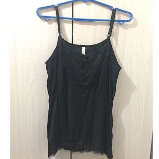 Cotton On Strapless Black Top (L)