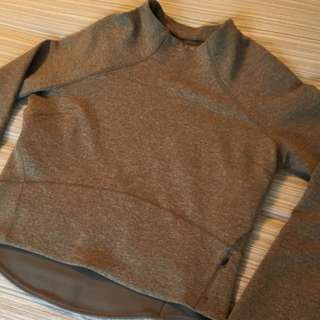 Lululemon Grey Crop Sweater 'size 8'
