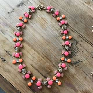 Cute Neon Orange & Pink Necklace