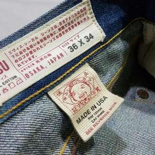 最後降價  直接到底!!Evisu2008 復刻牛仔褲 美國製造 赤耳布邊 LVC