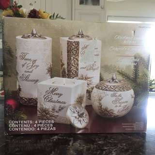 Set Of 4 Candle Holders Brand New
