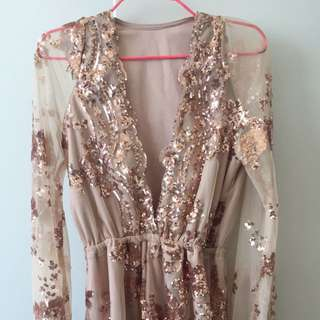 Gorgeous Rose Gold Playsuit