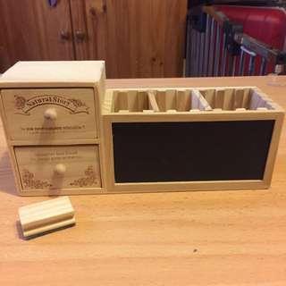 Wooden Stationery Desk Organiser