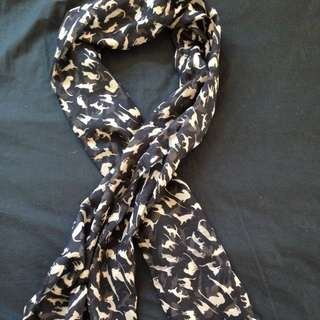 Black And Gold Cat Scarf