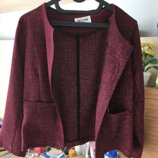 ThisisApril Red blazer