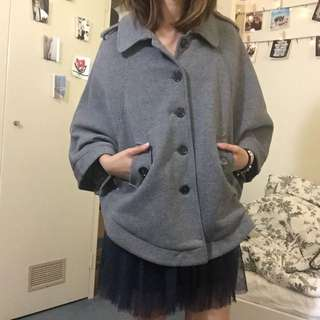 Grey Cape Jacket