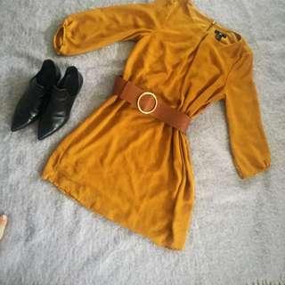 Ocre Dress H&M