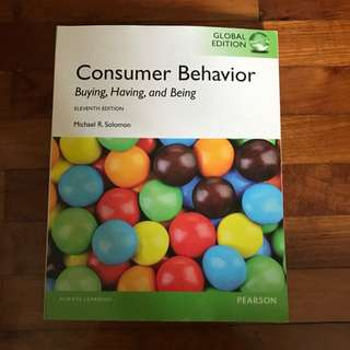 Consumer Behavior: Buying, Having, and Being Author: Solomon