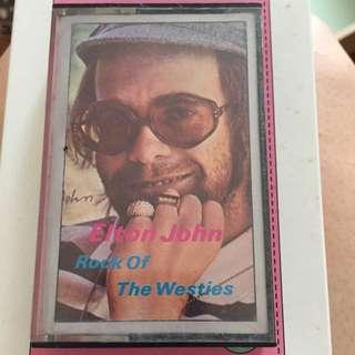 Elton John Cassette Tape Of Rock Of The Westies