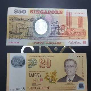 Commemorative SG Banknotes with lucky numbers@$188