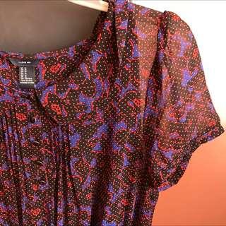 Violet Semi-sheer Dress