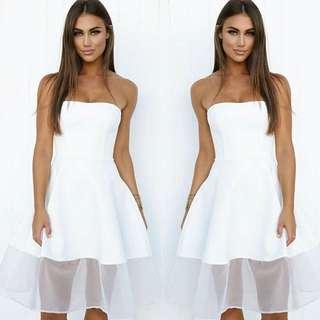 LoveIndie XS White Strapless Dress