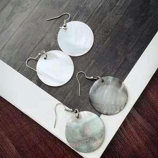 歐美貝殼感耳環